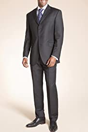 Sartorial Pure Wool 3 Button Stripe Suit [T15-2831-S/T15-2832-S]