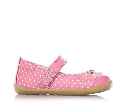 BOBUX - Ballerina rosa, scarpa, in pelle traspirante, flessibile, chiusura a strappo, materiali non tossici, Bambina-21