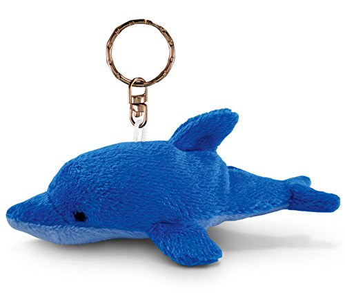 Puzzled Dolphin Plush Keychain - 1
