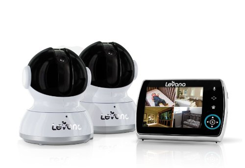 "Levana® Keera 3.5"" Lcd, Pan/Tilt/Zoom Digital Baby Video Monitor With 24Hr Battery, Touch Panel, Talk To Baby Intercom & Sd Video Recording - 2 Camera System (32016)"