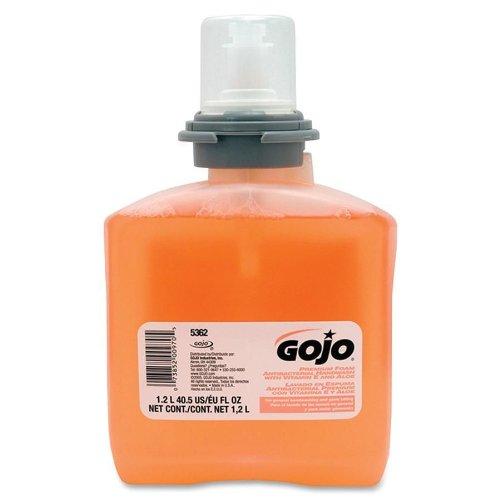 Gojo 536202 Premium Foam Antibacterial Hand Wash, Fresh Fruit Scent, 1200Ml