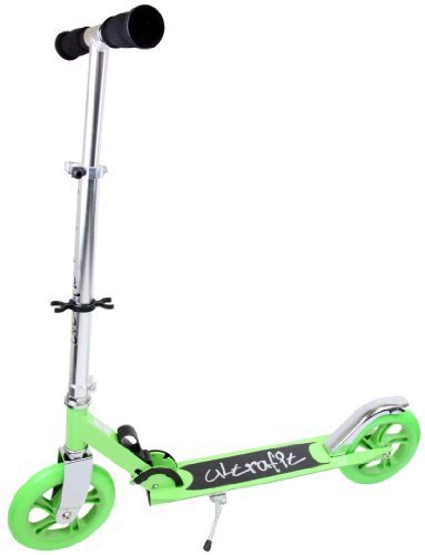 Ultrafit Kick Scooter - Green/Silver, 12cm Wheel