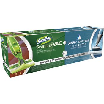 Swiffer® Sweepervactm Cordless Vacuum Starter Kit And Swiffer® Steamboosttm Powered By Bissell® Steam Mop