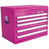 The Original Pink Box PB2605C 26-Inch 5-Drawer 18G Steel Top Chest, Pink