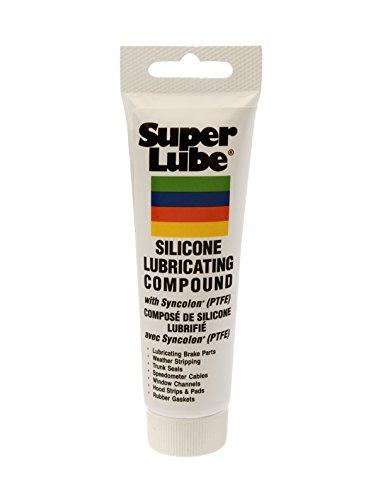 Super Lube 92003 Silicone Lubricating Grease with PTFE, 3 oz Tube, Translucent White (Parker Super O Lube compare prices)