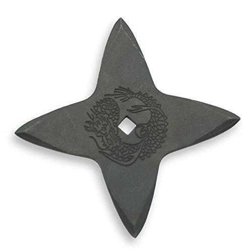 手裏剣 AD-9 黒燻し M 9cm 十字
