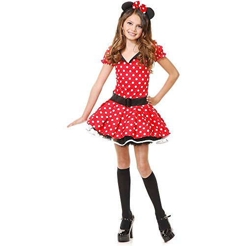 Red Miss Mouse Kids Costume
