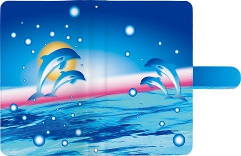 【 コヴィア・ネットワークス 】 FLEAZ F5 CP-F50aK カバー 手帳型 FLEAZF5CP-F50aK ケース DoCoMo au SoftBank フリーズ CPF50AK F50 AK スマホカバー CPF50aKケース スマホケース 手帳 レザー マルチ タイプ プリント ドルフィンt0146