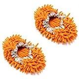 Multi-Function Chenille Fibre Washable Dust Mop Slippers - Random Color (Pair)