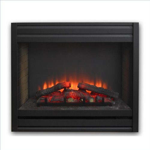 Outdoor GreatRoom Company Louver Electric Fireplace Front for GBI-34 in Matte Black picture B00DJ67F2S.jpg
