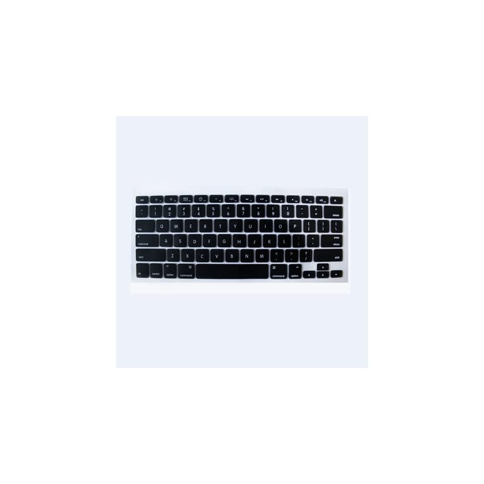 Black Silicone Keyboard Cover for MacBook/MacBook Pro