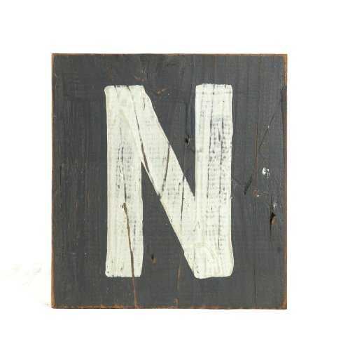 ZENTIQUE Wooden Letter, Small, Monogrammed N