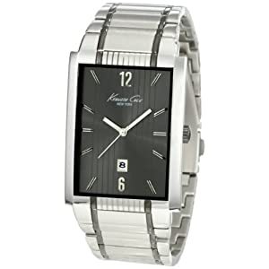 Kenneth Cole New York Men's KC3921 Classic Rectangular Analog Date Watch