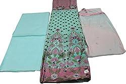 Alankar Textiles Panjabi Suit Piece Sky Blue Color Cotton Dress Material