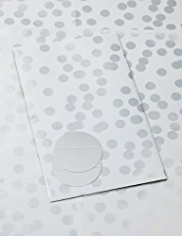 2 Classic Silver Spotted Sheet Wrapping Papers
