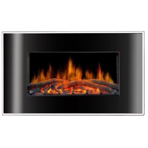 Lofty Bg03Fb Valencia Wall Mountable Electric Fireplace - Indoor Usage - Heating Capacity 1.50 Kw