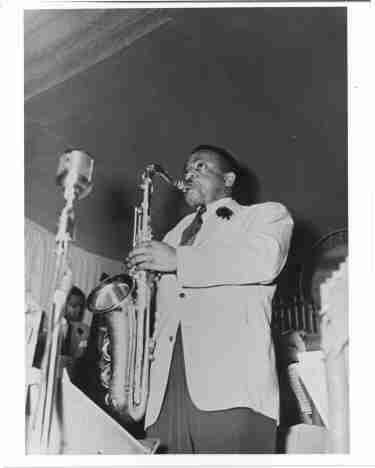 Photo of a Jazz Sax Player Ben Webster c1940