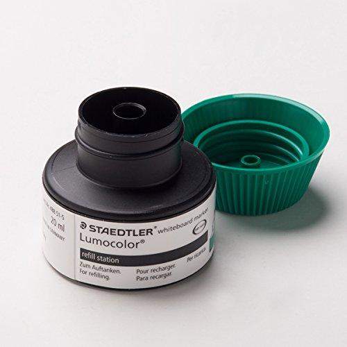 Staedtler 488 51-5 Flacon de recharge Lumocolor pour marqueurs 351/351 B 15 à 20 recharges (Vert) (Import Allemagne)