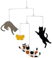猫のモビール フライングキャット【パターン/PATTERN】