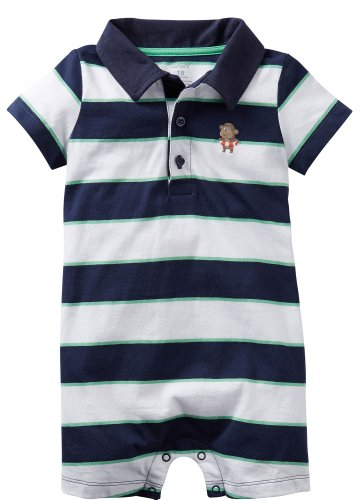 Carter'S Baby Boys' Romper (Baby) - Blue - 6 Months front-171882