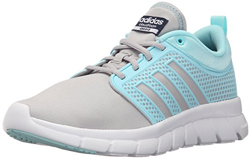 Adidas NEO Women's Cloudfoam Groove W Casual Sneaker,Clear Onix Grey/Blue Zest/Collegiate Navy,6 M US