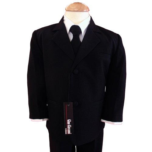 Gino Wedding Toddler Boy Formal Suit Black Size 3 / 3t (3T)
