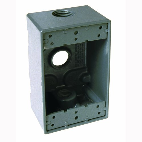 Hubbell Bell 5324-0 Single Gang 3-3/4-Inch Outlets Weatherproof Box, Gray