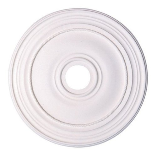 Capital Lighting 79470 Bristol 16-Inch Decorative Ceiling Medallion, Paintable White Finish