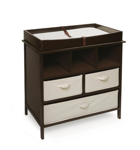 Badger Basket Company Estate Baby Changing Table, Espresso