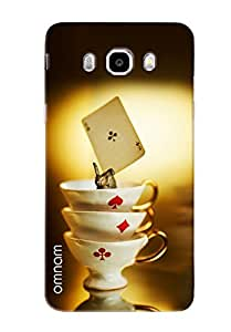 Omnam Three Cups Of Cards Game Printed Designer Back Cover Case For Samsung Galalxy J5 (2016)