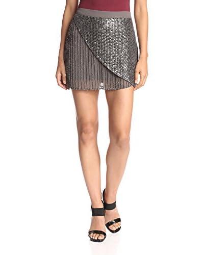 Lez a Lez Women's Wrap Front Bead Skirt