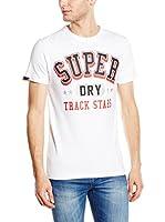 SUPERDRY Camiseta Manga Corta (Blanco Óptico)