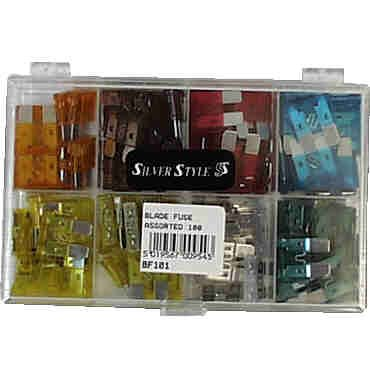 BLADE FUSE BOX OF 100 ASSORTED