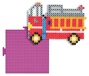 Large Square 5-1/2-inch-by-5-1/2-inch Colored Pegboard for Perler Fuse Beads - Interlocking