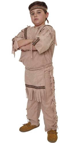Tan Indian Brave Costume - Child Size 8-10