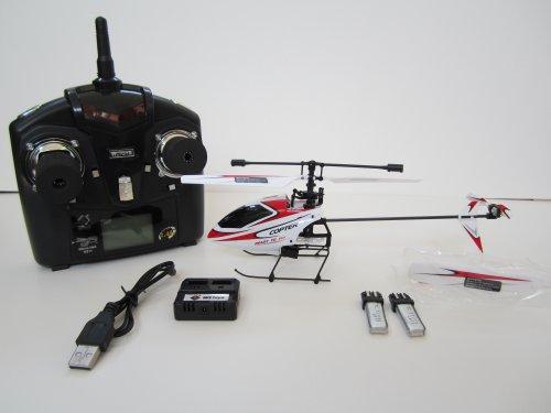 4CH 2.4GHz Mini Radio Single Propeller RC Helicopter Gyro V911 RTF White&Red