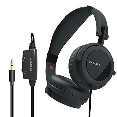 エレコム ヘッドホン テレビ用 3m 音量調整付 オーバーヘッド Affinity Sound 断線に強いメッシュケーブル 3.0m ブラック Ehp-tv10o3bk