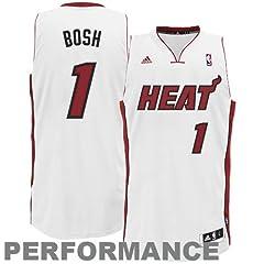 NBA Miami Heat White Swingman Jersey Chris Bosh #1 by adidas