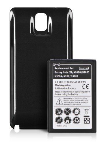 DONZO POWER Akku mit NFC für Samsung Galaxy Note 3 N9000/N9002/N9005 mit 6800 mAh LiIon inkl. Akkufachdeckel  schwarz Picture