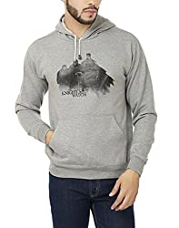 Weardo Men's Fleece Sweatshirt (WJonSnowHood_Grey_X-Large)