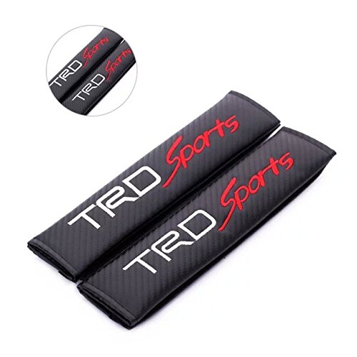 2pcs TRD Sport Carbon Fiber Car Styling Accessories