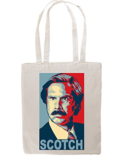 Anchorman Movie Ron Burgundy Loves Scotch Poster Tote Shopping Bag