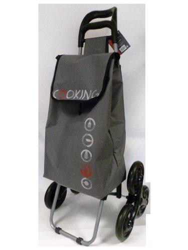 Chariot de course 2 fois 3 roues - cooking gris - 110085