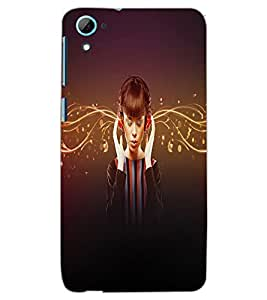 HTC DESIRE 826 MUSIC GIRL Back Cover by PRINTSWAG