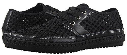 Mohem Men's Poseidon Mesh Walking Shoes Casual Water Shoes (3166Black47)
