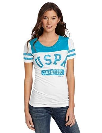 US Polo Assn. Juniors Uspa Baseball T-Shirt, Teal Sequin, Medium