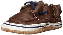 Robeez Boys\' Connor Loafer, Brown, 18-24 Months M US Infant