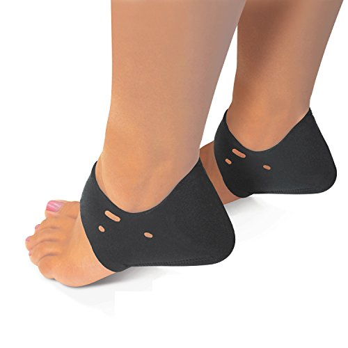 shock-absorbing-neoprene-heel-and-arch-therapy-foot-wraps-black