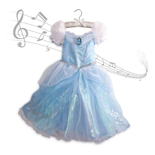 Disney Store Princess Cinderella Musical Costume Dress: Size Small 5/6 (5T)
