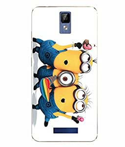 Case Cover Minions Printed Yellow Soft Back Cover For Gionee P7 MAX